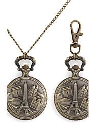 Modelo retro de construcción europea metálico Llavero / reloj del collar (1pc)