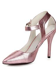 Leder-Frauen Hochzeit Stiletto Spitzschuh Pumps Schuhe (weitere Farben)
