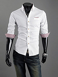 U2M2 Mens Contrast Color Controles halve mouwen shirt