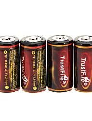 TrustFire 18350 1200mAh da bateria (4 peças) com proteção de sobrecarga