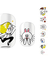 28PCS Funny Cartoon Design Nail Art Stickers