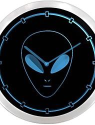 nc0704 Muestra extranjera Nave Espacial de neón del LED del reloj de pared