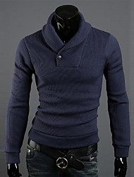 Men's Turtleneck Slim Casual California Plush Solid Color Knitwear