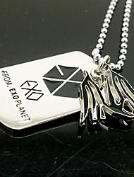 EXO KRIS Fire Dragon Lichtmetalen Ketting