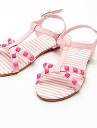 Heel Sandals Plano T-cinta das meninas com enchida calça (mais cores)
