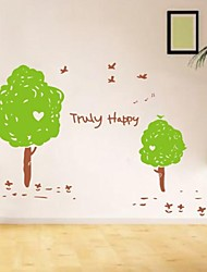 Botanique heureux Décoration Arbre Stickers muraux