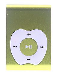 A Apple Design Botão Clipe MP3 Player com leitor de cartão TF (amarelo)