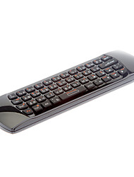 Fly Rii 2.4GHz russo i25 Air Mouse sem fio Combos Teclado remoto para Android TV Mini PC (Preto)