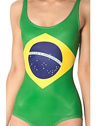 una sola pieza atractivo del traje de baño del bikini de la mujer