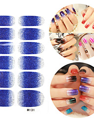 28PCS scintillants des dégradés Nail Art Stickers Série M NO.131