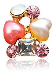 10PCS Amor design colorido enchido diamante Decorações Nail Art