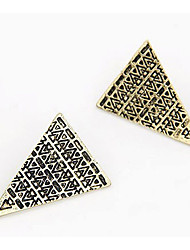 Timi Women's vintage triangle earrings