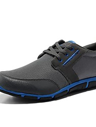 Men's Spring Summer Fall Comfort Nylon Outdoor Athletic Flat Heel Lace-up Grey Black and Red Brown Hiking