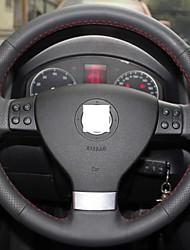 Xuji ™ echtes Leder Lenkradbezug für Volkswagen Golf 5 Mk5 Sagitar Magotan VW Passat B6
