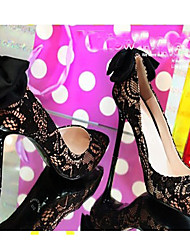 Frauen Hochzeit Rot-Goust Sexy Bow Spitzschuh-Absatz-Schuhe