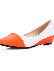 Damen Wedge Heel Cap-Toe-Pumps Schuhe (weitere Farben)