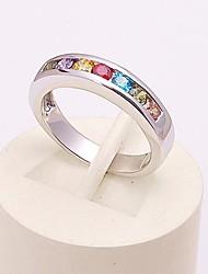 925 bijoux en argent comme couleur blanche unique, anneau de pierre
