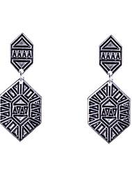 Fashion Painted Metal Earrings