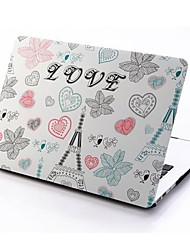 Cartoon Eiffel Tower Patterns Folio Plastic Protective Hard Shell Case for Macbook Air 11.6''