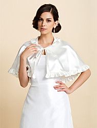 Nice Satin Lace-up Evening/Casual Wrap/Poncho with Ruffles(More Colors)