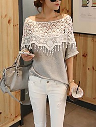 The One & Only Women's Sweet Cut Out Lace Batwing Sleeve Blouse XJB13A8668