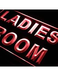 wc cuarto signo luz de neón baño de señoras