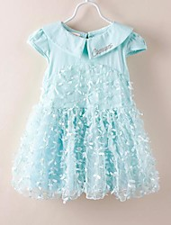 Kid's Dress , Cotton/Lace Cute Momlook