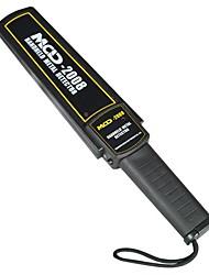 Super Slim ручной металлоискатель с вибрацией и светодиодной сигнализации (1x 9В батареи, 6F22ND)