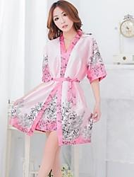 Sexy Lingerie malha quimono japonês Estilo Pijamas fogo com G-corda e Brasão