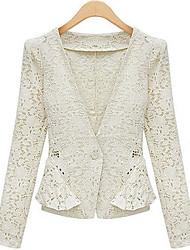 Women's Blazers & Sport Coats , Lace/Linen Casual/Cute Weimei