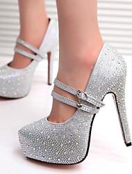 Zapatos de mujer - Tacón Stiletto - Tacones / Plataforma - Tacones - Casual - Semicuero - Plata