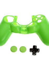 PS4 peau de protection en silicone + D-pad + bouchon de silicone antidérapant Set