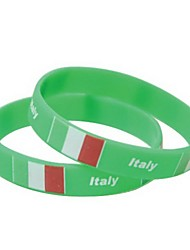 Italy Flag Pattern 2014 World Cup Silicone Wrist Band