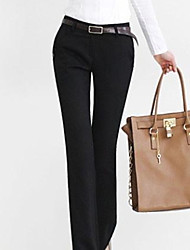 Dini Elegant Slim Straight Long Pants (Black)