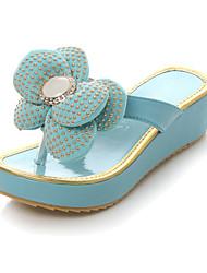 Женская низком каблуке флип-флоп сандалии с цветок обувь (больше цветов)