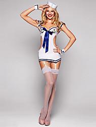 Sexy Hot Mini Marinheiro Uniforme Halloween Costume & Hat (4pieces)
