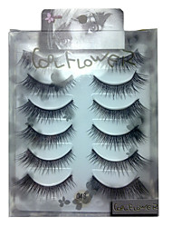 6 pairscoolflower false eyelashes 048#