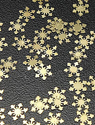 50PCS Snow Design Gold Metal Nail Art Decorations