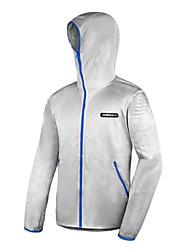 AMADIS Silver Gray poliéster manga larga Anti-UV Pesca Jacket
