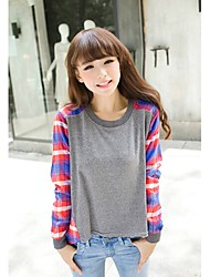 JINYI Koreanisch Loose Fit Langarm-T-Shirt