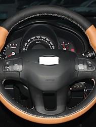 Xuji ™ Arancione Nero Genuine Leather Copertura Volante per Kia Sportage 3 2011 2012 2013 2014