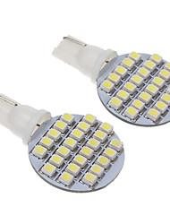 T10 3W 24 LED 240LM 6000K 3528SMD fraîche ampoule blanche LED pour la voiture (12V, 2pcs)