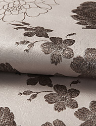 "Country Chocolate Floral / Botanical Polyester Jacquard Fabric (Fabric Weight-Medium) - Width=110"" (280 cm)"