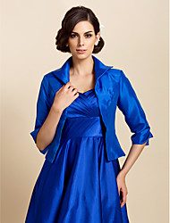 Wedding  Wraps Coats/Jackets Long Sleeve Taffeta Royal Blue Wedding / Party/Evening / Casual T-shirt Open Front