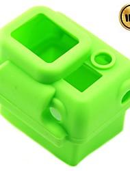 Cas de protection en silicone pour Gopro Hero 3 - vert