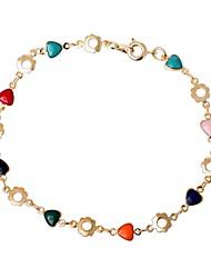 moda delicada forma de flor das mulheres de 18 k ouro pulseira banhados
