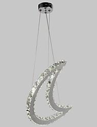 Crescent Shape Crystal Quartet Beads Led Pendent