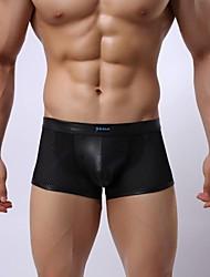 Dos homens de couro sexy Faux ortográfica Underwear Rede Homens G-Cordas