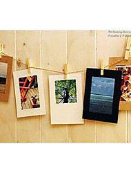 "3 ""x 3"" papier kraft de style simple pendaison cadre photo, set de 10"