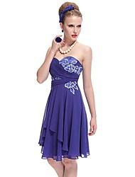 Zafiro azul Vestido sin tirantes de encaje apliques Partido Corto acanalada Siempre-de las mujeres bonitas